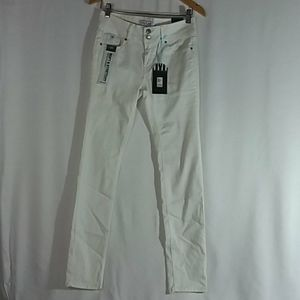 Wax Jeans White Two Button Skinny Size 11